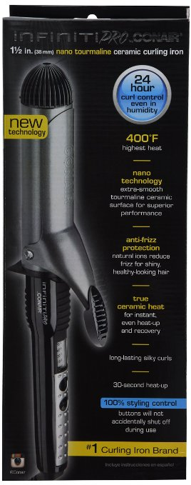->Click Here To See Today's Discount On Infiniti Pro by Conair Nano Tourmaline Ceramic 1-1/2-Inch Curling Iron