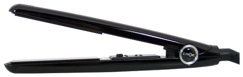 Turboion Baby Croc Professional Dual Voltage Mini Travel Flat Iron, Black, 5/8 Inch